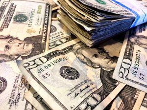 Cash, dollar bills